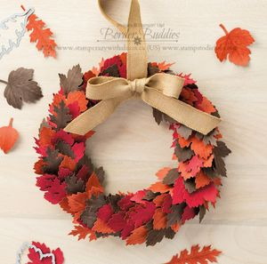 Vintage leaves wreath