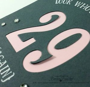 Number of Years Stamp Srt, Large Numbers Framelits Dies, close up