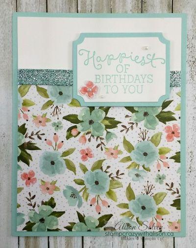 Birthday Blooms Stamp Set Birthday Bouquet Deigner Series Paper www.stampcrazywithalison.ca
