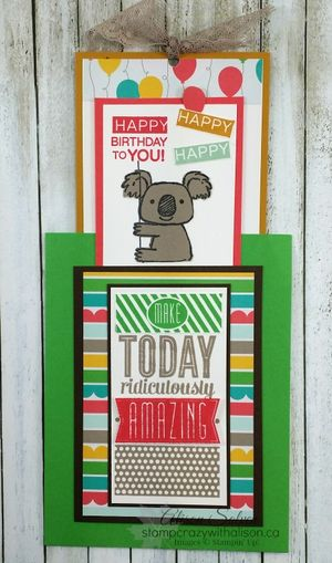 Amazing birthday stamp set kind koala stamp set www.stampcrazywithalison.ca