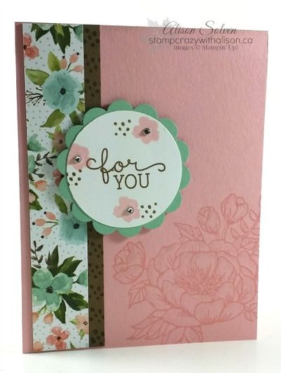 Birthday Blooms Stamp Set For You Birthday Bouquet DSP Wink of Stella Glitter Brush www.stampcrazywithalison.ca