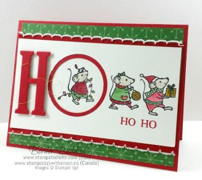 Merry Mice HO HO HO 5 www.stampcrazywithalison.ca