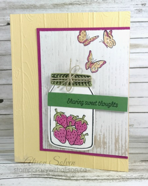 Sharing Sweet Thoughts Stamp Set 1 www.stampcrazywithalison.ca