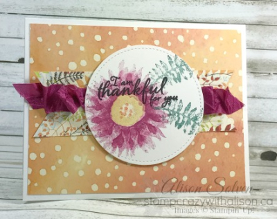 Colour Your World Blog Hop Painted Harvest 2 www.stampcrazywithalison.ca
