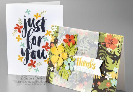 Stampin' Up! Sale-a-bration, Stampin' Up! 2016 Occasions Catalogue, Botanicals for You Stamp Set, Botanical Blooms Stamp Set, Botanical Gardens Designer Series Paper, Botanical Gardens, httpstampcrazywithalison.ca