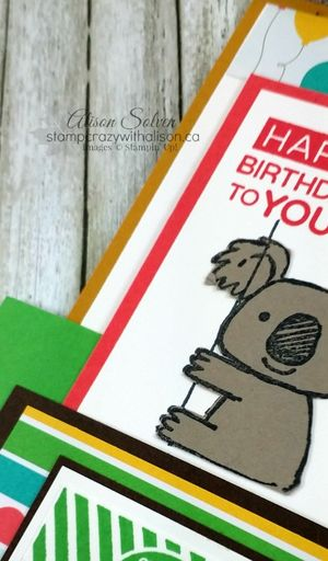 Kind koala stamp set amazing birthday stamp set www.stampcrazywithalison.ca
