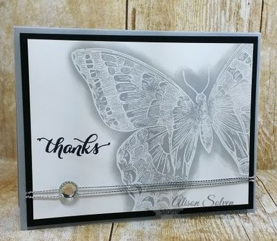 Swallowtail stamp set emboss resist www.stampcrazywithalison.ca