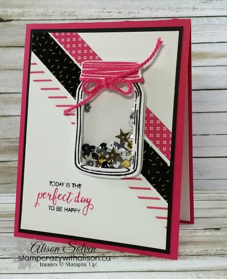 Jar Of Love Stamp Set Shaker Card Stampcrazywithalisonca