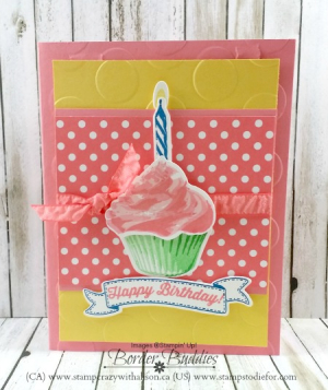 Sweet cupcakes 3 colour your world blog hop www.stampcrazywithalison.ca