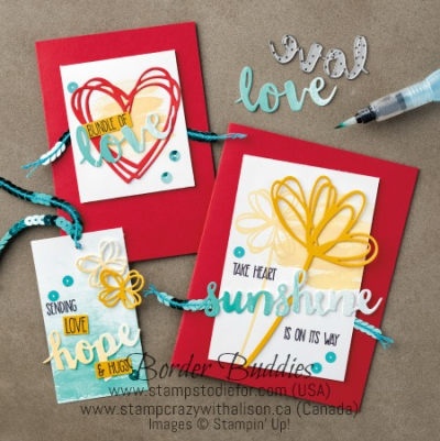 Sunshine Sayings Stamp Set Sunshine Wishes Thinlits Dies www.stampcrazywithalison.ca