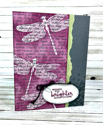 Dragonfly Dreams Emboss Resist Technique 1 www.stampcrazywithalison.ca