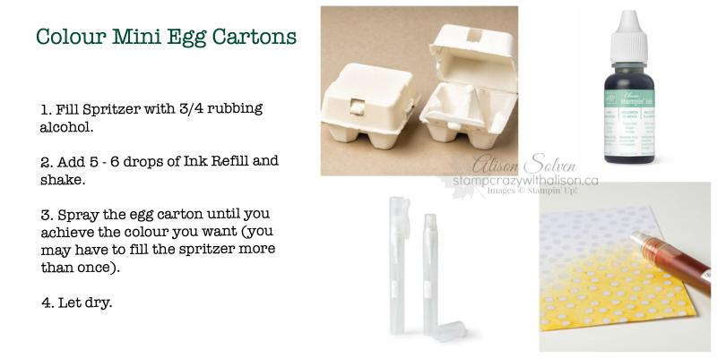 Colour Mini Egg Cartons www.stampcrazywithalison.ca