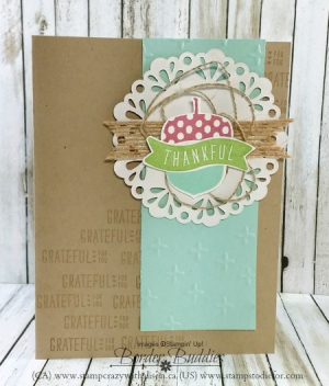 Just in Case acorny thank you 2 www.stampcrazywithalison.ca