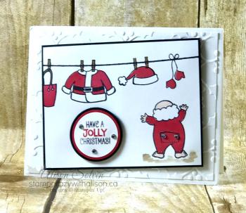 Santa's Suit Stamp Set Swap 2 www.stampcrazywithalison.ca