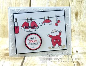 Santa's Suit Stamp Set Swap 1 www.stampcrazywithalison.ca