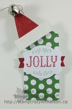 Santa tag hat