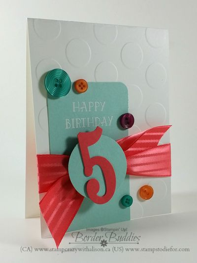 Number of years stamp set, large numbers framelits Dies, watermelon wonder 1 stitched satin ribbon