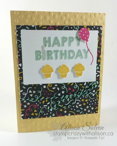Party Wishes Stamp Set, Party Punch Pack, It's My Party Designer Series Paper Stack