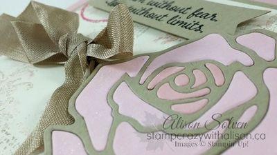Rose Garden Thinlits Dies www.stampcrazywithalison.ca Stampin' Up!