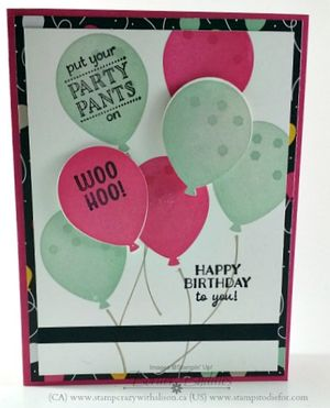 Border Buddy BB0006 Party Pants Stamp Set Sale0-a-bration www.stampcrazywithalison.ca www.stampstodiefor.com