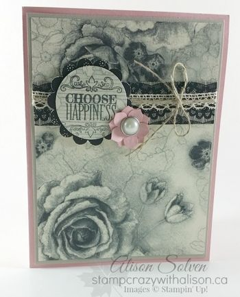 Timeless Treasures Designer Series Paper www.stampcrazywithalison.ca