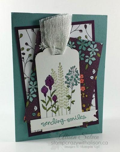 Flowering Fields Stamp Set Wildflower Fields Designer Series Paper www.stampcrazywithalison.ca