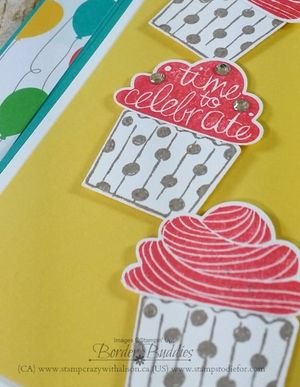 Cupcake party stamp set close up www.stampcrazywithalison.ca