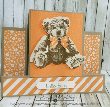Baby Bear Stamp Set step card www.stampcrazywithalison.ca