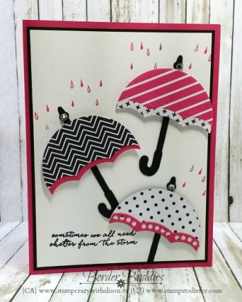 Weather together stamp set umbrella weather framelit www.stampcrazywithalison.ca
