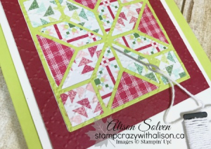 Colour Your World Blog Hop Quilted Christmas Bundle 5 www.stampcrazywithalison.ca