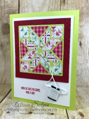 Colour Your World Blog Hop Quilted Christmas Bundle 8 www.stampcrazywithalison.ca