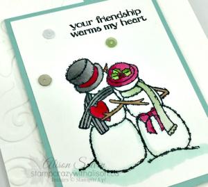 Card Swap Sunday Spirited Snowmen 1  www.stampcrazywithalison.ca