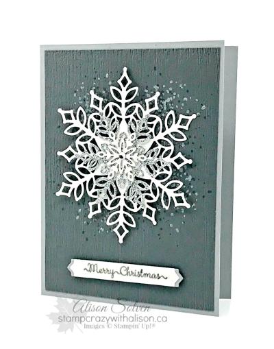 Card Swap Sunday Snowflake Showcase Promotion www.stampcrazywithalison.ca