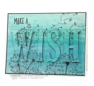 Dandelion Wishes www.stampcrazywithalison.ca