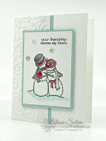 Card Swap Sunday Spirited Snowmen 3  www.stampcrazywithalison.ca