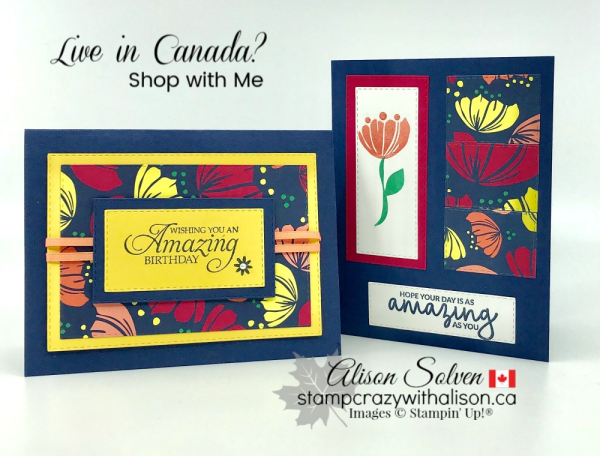 Card Swap Sunday Happiness Blooms Suite www.stampcrazywithalison.ca