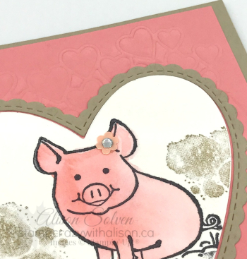 Card Swap Sunday This Little Piggy www.stampcrazywithalison.ca