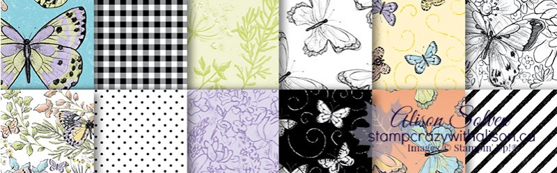 Botanical Butterfly Designer Series Paper www.stampcrazywithalison.ca