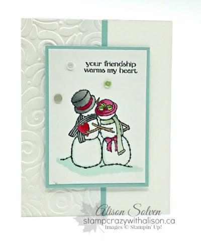 Card Swap Sunday Spirited Snowmen 2  www.stampcrazywithalison.ca