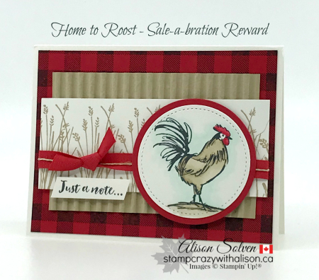 Card swap Sunday home to roost www.stampcrazywithalison.ca