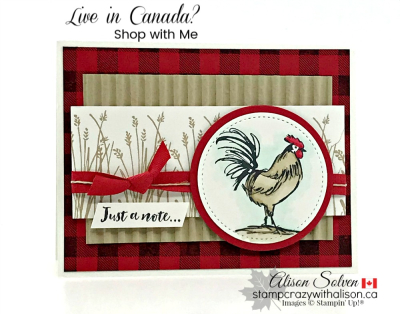 Card swap Sunday home to roost www.stampcrazywithalison.ca-2
