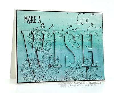 Dandelion Wishes Stamp Set www.stampcrazywithalison.ca