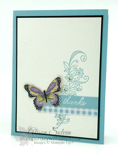 Card Swap Sunday - Botanical Butterfly SAB www.stampcrazywithalison.ca