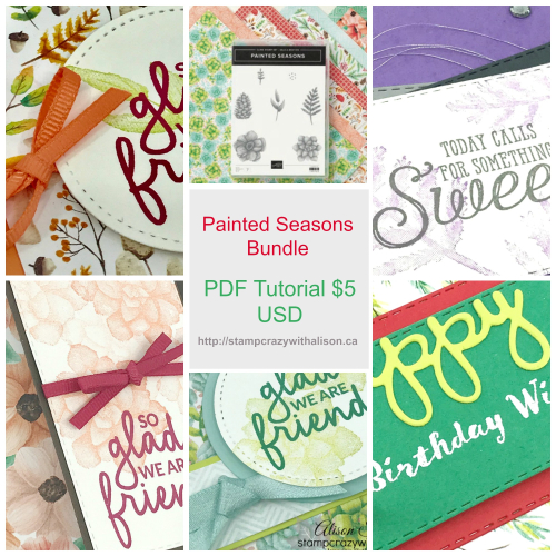 Painted Seasons Bundle PDF Tutorial Collage