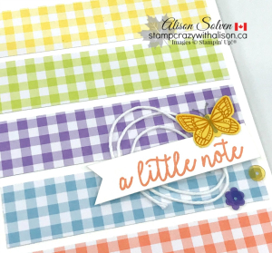 Just in Case Gingham Gala Suite www.stampcrazywithalison.ca