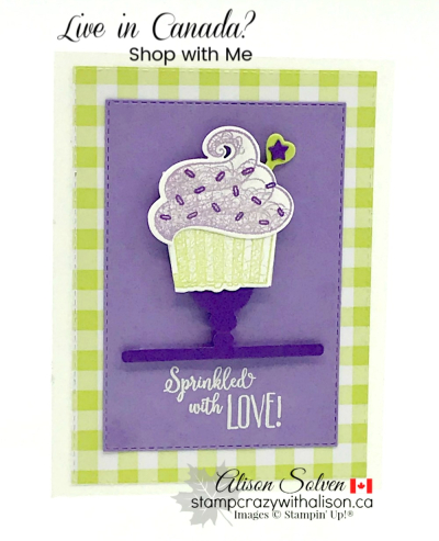 Hello Cupcake Stamp Set & Call Me Cupcake Thinlits Dies www.stampcrazywithalison.ca