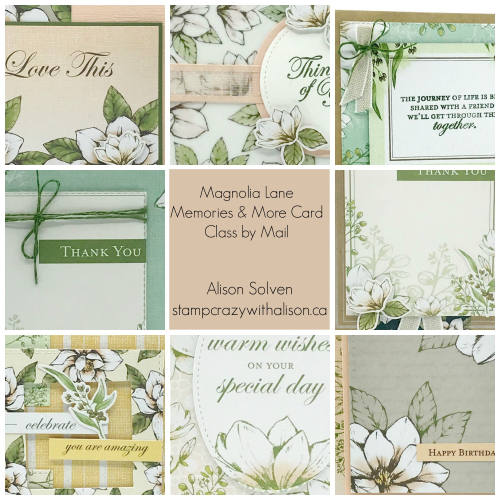 Magnolia Lane Memories & More Card Class by Mail Collage