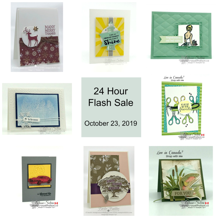 24 Hour Flash Sale - October 23  2019 www.stampcrazywithalison.com