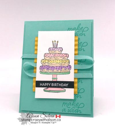 Birthday Goodness Cling Stamp Set www.stampcrazywithalison.com