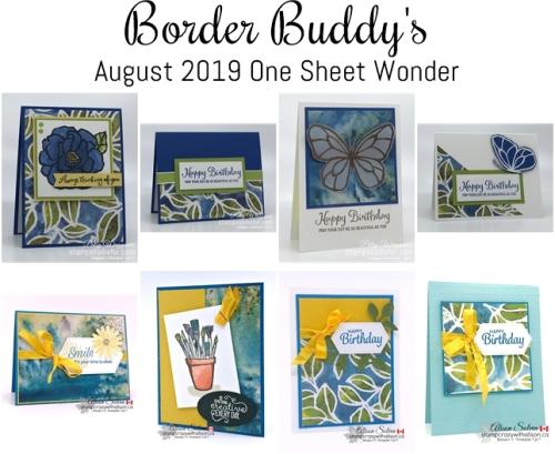 Border Buddy's One Sheet Wonder August 2019